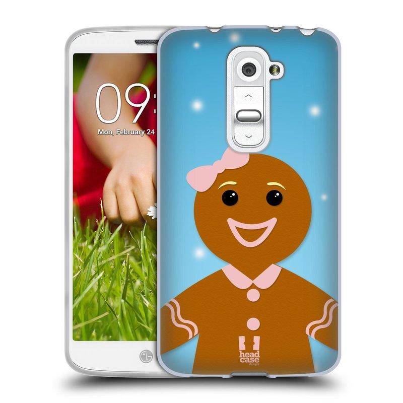Silikonové pouzdro na mobil LG G2 Mini HEAD CASE VÁNOCE PERNÍČEK (Silikonový kryt či obal na mobilní telefon LG G2 Mini D620)