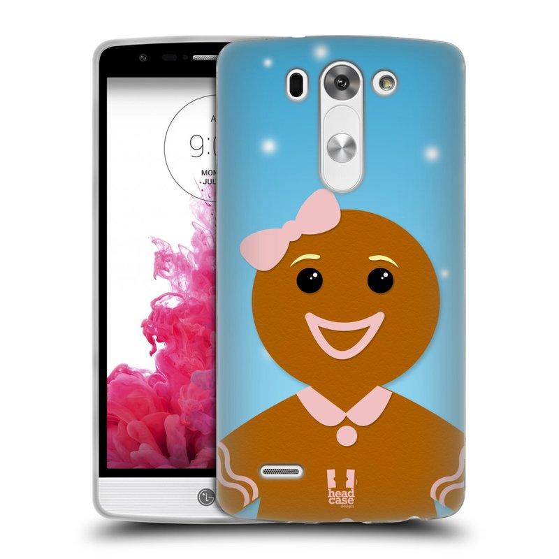 Silikonové pouzdro na mobil LG G3s HEAD CASE VÁNOCE PERNÍČEK (Silikonový kryt či obal na mobilní telefon LG G3s D722)