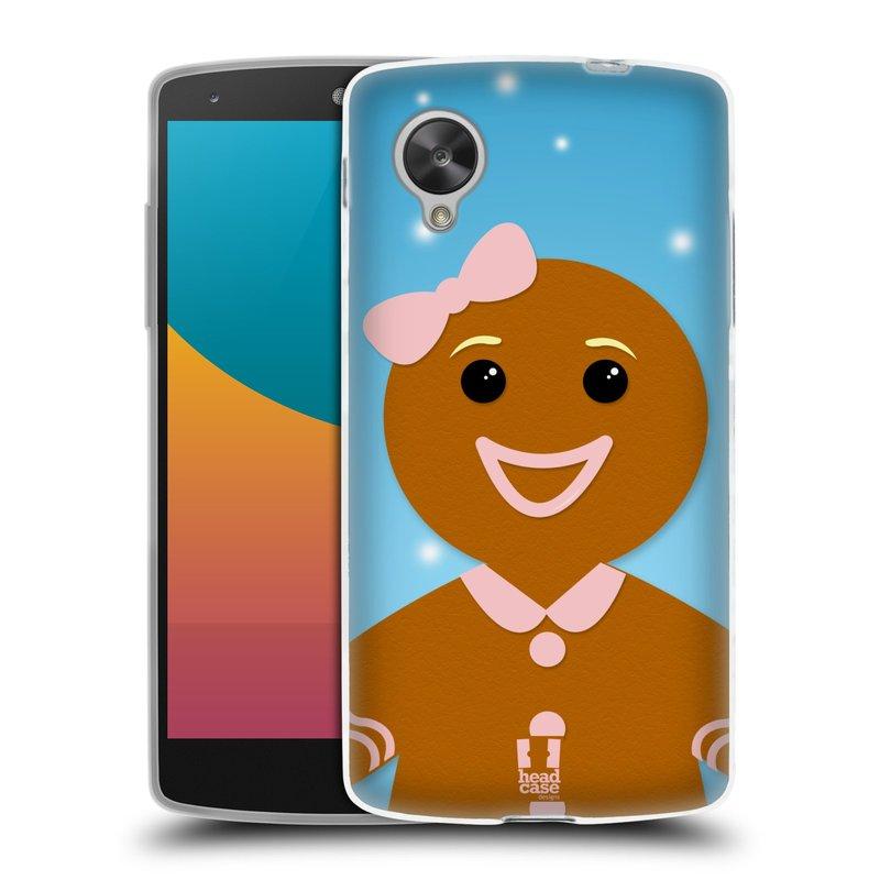Silikonové pouzdro na mobil LG Nexus 5 HEAD CASE VÁNOCE PERNÍČEK (Silikonový kryt či obal na mobilní telefon LG Google Nexus 5 D821)