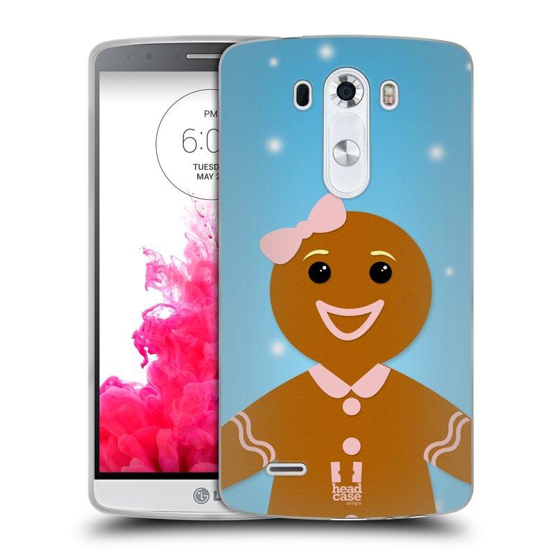 Silikonové pouzdro na mobil LG G3 HEAD CASE VÁNOCE PERNÍČEK (Silikonový kryt či obal na mobilní telefon LG G3 D855)