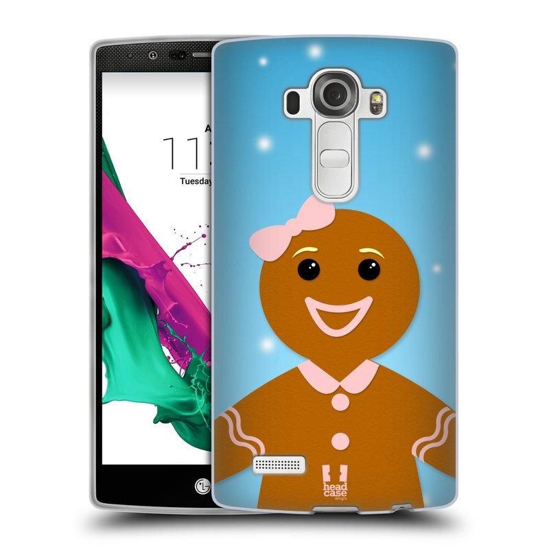 Silikonové pouzdro na mobil LG G4 HEAD CASE VÁNOCE PERNÍČEK (Silikonový kryt či obal na mobilní telefon LG G4 H815)