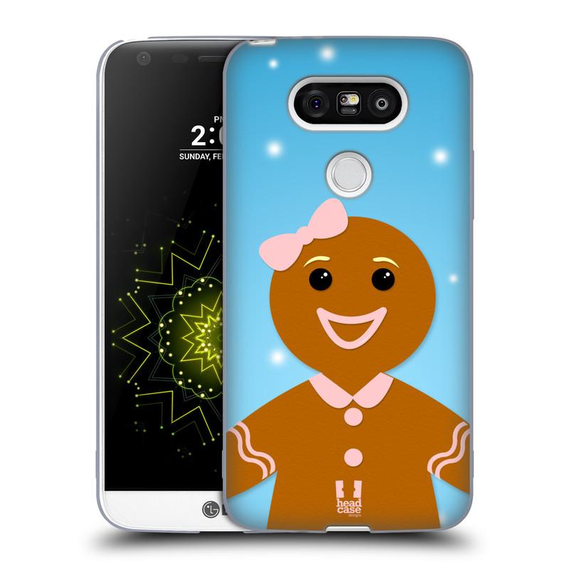 Silikonové pouzdro na mobil LG G5 HEAD CASE VÁNOCE PERNÍČEK (Silikonový kryt či obal na mobilní telefon LG G5 H850)