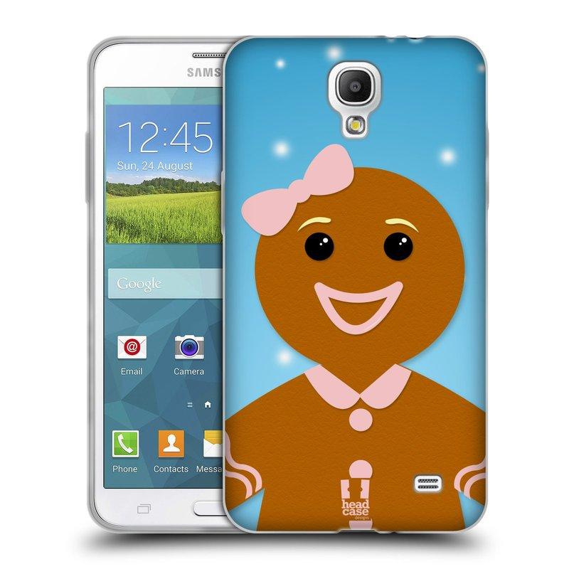Silikonové pouzdro na mobil Samsung Galaxy Grand Mega 2 HEAD CASE VÁNOCE PERNÍČEK (Silikonový kryt či obal na mobilní telefon Samsung Galaxy Grand Mega 2 SM-G750)