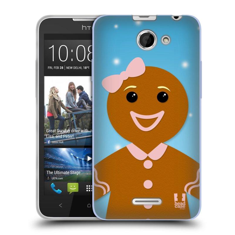 Silikonové pouzdro na mobil HTC Desire 516 HEAD CASE VÁNOCE PERNÍČEK (Silikonový kryt či obal na mobilní telefon HTC Desire 516 Dual SIM)