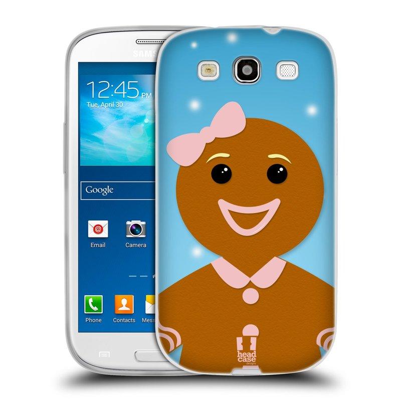 Silikonové pouzdro na mobil Samsung Galaxy S3 Neo HEAD CASE VÁNOCE PERNÍČEK (Silikonový kryt či obal na mobilní telefon Samsung Galaxy S3 Neo GT-i9301i)