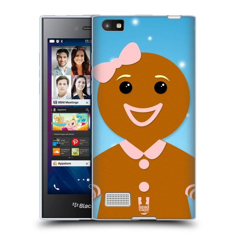 Silikonové pouzdro na mobil Blackberry Leap HEAD CASE VÁNOCE PERNÍČEK (Silikonový kryt či obal na mobilní telefon Blackberry Leap)