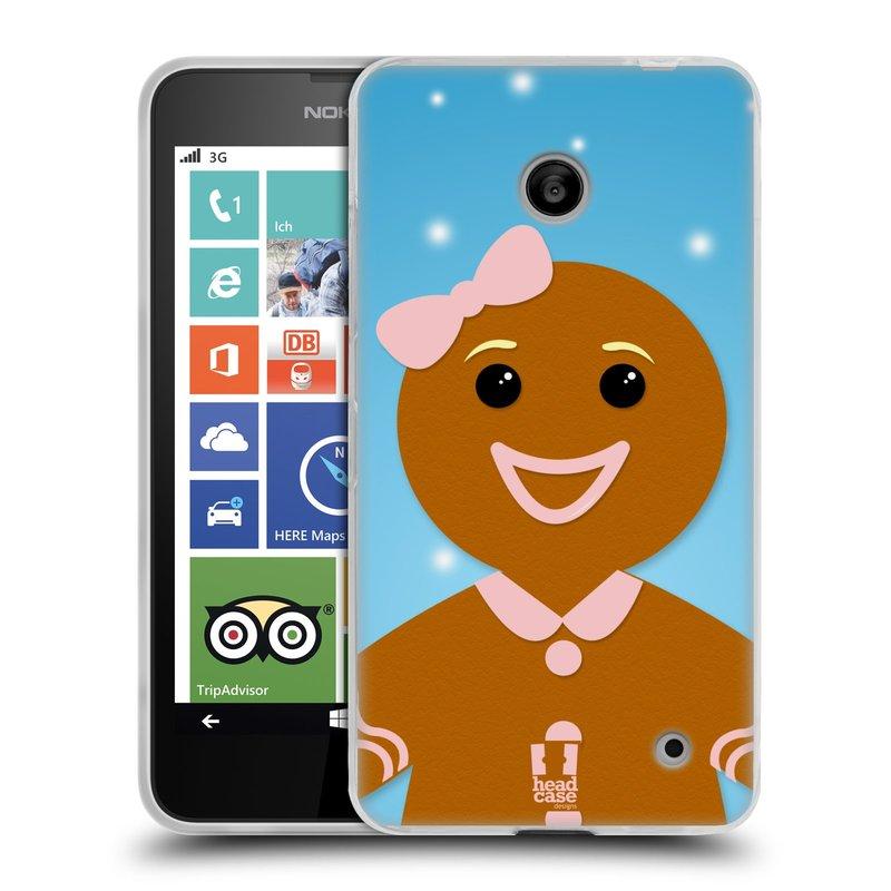 Silikonové pouzdro na mobil Nokia Lumia 630 HEAD CASE VÁNOCE PERNÍČEK (Silikonový kryt či obal na mobilní telefon Nokia Lumia 630 a Nokia Lumia 630 Dual SIM)