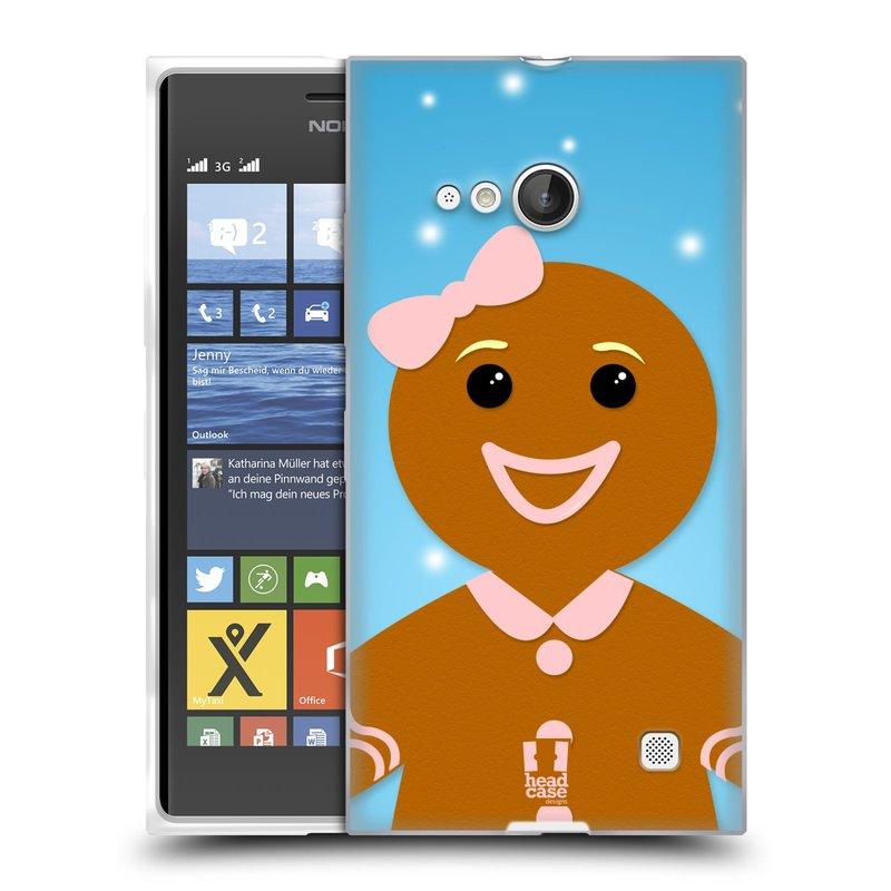 Silikonové pouzdro na mobil Nokia Lumia 730 Dual SIM HEAD CASE VÁNOCE PERNÍČEK (Silikonový kryt či obal na mobilní telefon Nokia Lumia 730 Dual SIM)