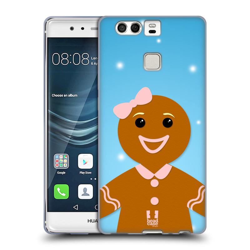 Silikonové pouzdro na mobil Huawei P9 HEAD CASE VÁNOCE PERNÍČEK (Silikonový kryt či obal na mobilní telefon Huawei P9)
