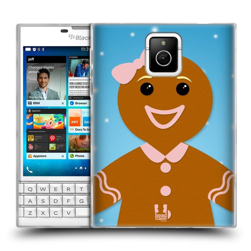 Silikonové pouzdro na mobil Blackberry PASSPORT HEAD CASE VÁNOCE PERNÍČEK (Silikonový kryt či obal na mobilní telefon Blackberry PASSPORT)