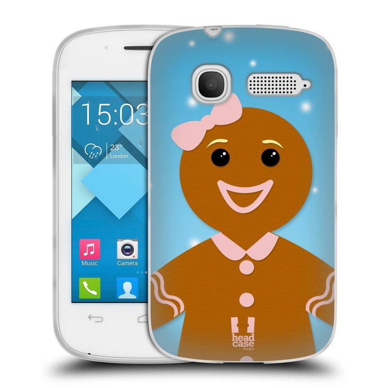 Silikonové pouzdro na mobil Alcatel One Touch Pop C1 HEAD CASE VÁNOCE PERNÍČEK (Silikonový kryt či obal na mobilní telefon Alcatel OT-4015D POP C1)