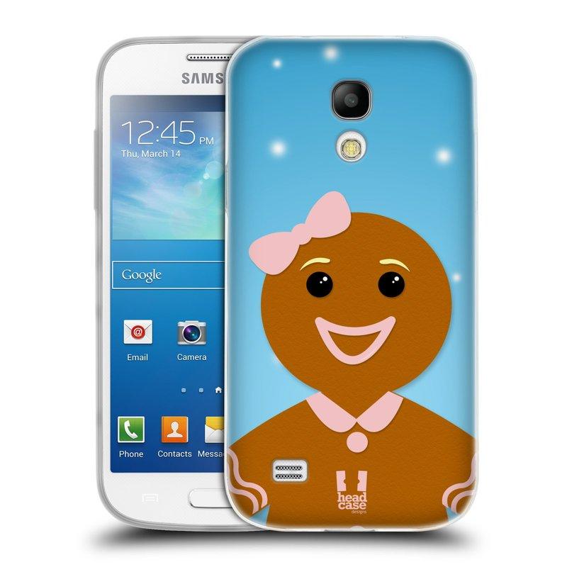 Silikonové pouzdro na mobil Samsung Galaxy S4 Mini HEAD CASE VÁNOCE PERNÍČEK (Silikonový kryt či obal na mobilní telefon Samsung Galaxy S4 Mini GT-i9195 / i9190 (nepasuje na verzi Black Edition))