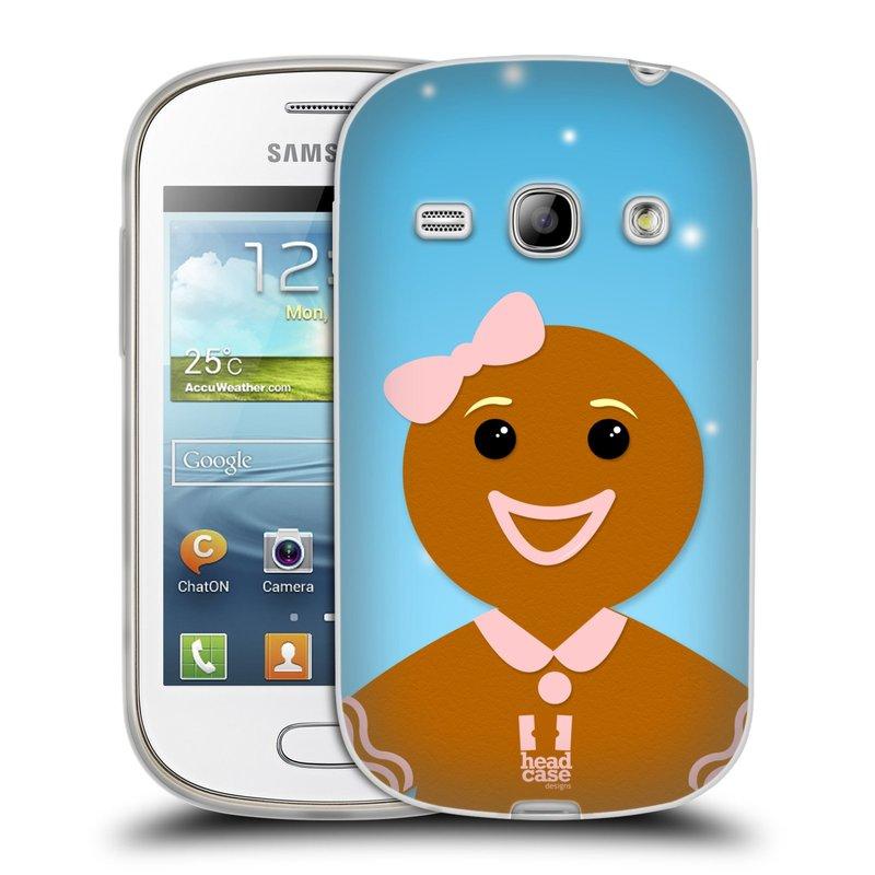 Silikonové pouzdro na mobil Samsung Galaxy Fame HEAD CASE VÁNOCE PERNÍČEK (Silikonový kryt či obal na mobilní telefon Samsung Galaxy Fame GT-S6810)