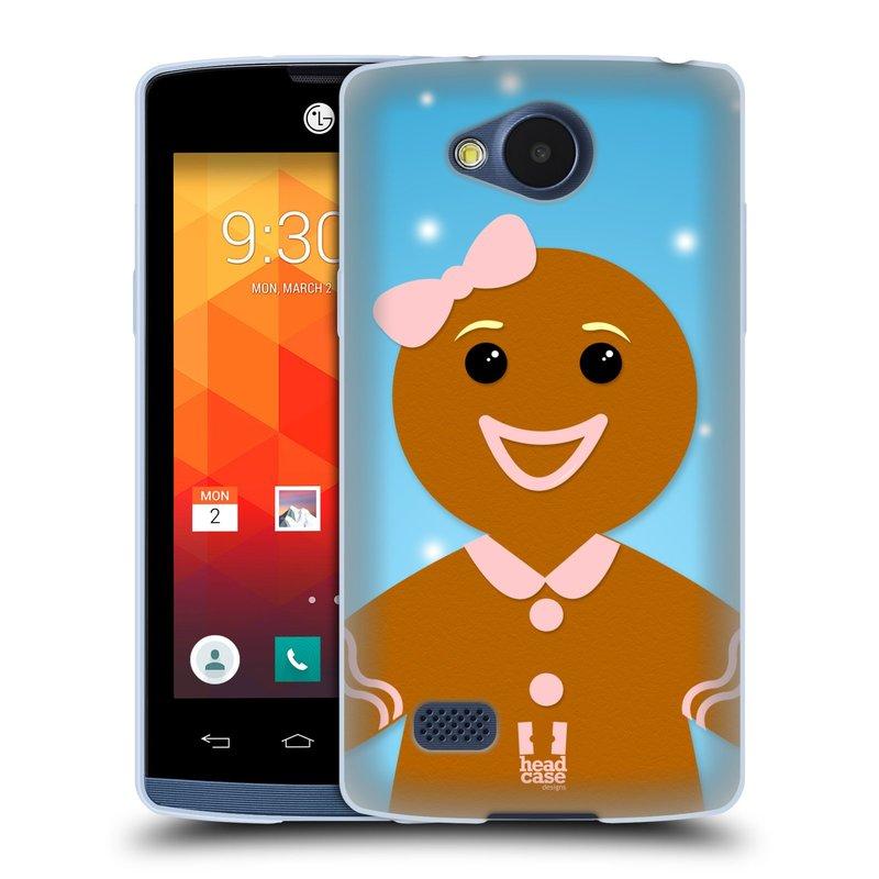 Silikonové pouzdro na mobil LG Joy HEAD CASE VÁNOCE PERNÍČEK (Silikonový kryt či obal na mobilní telefon LG Joy H220)