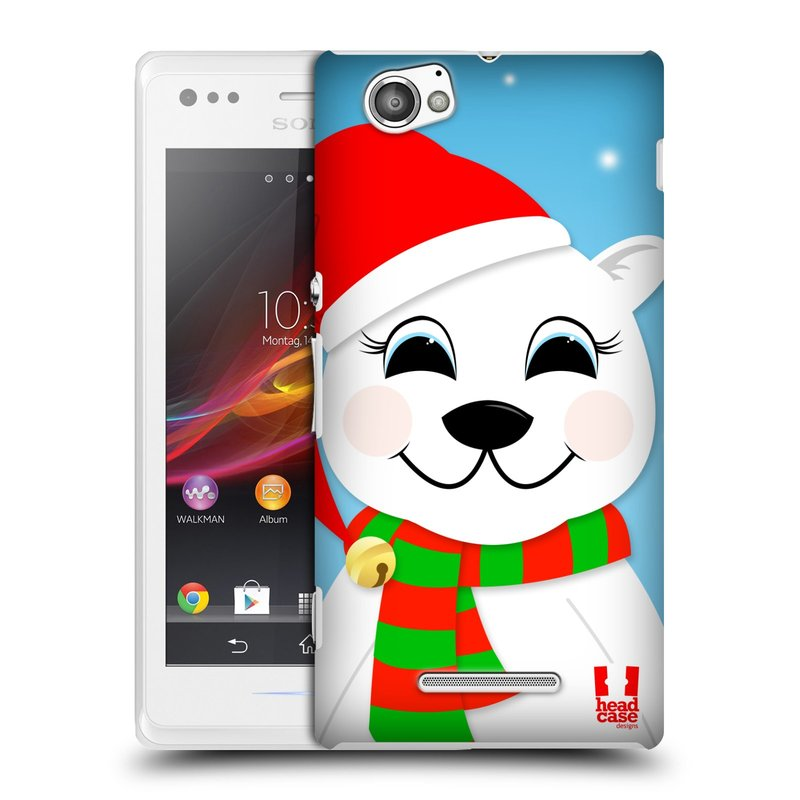 Plastové pouzdro na mobil Sony Xperia M C1905 HEAD CASE VÁNOCE POLÁRNÍ MÉĎA (Kryt či obal na mobilní telefon Sony Xperia M a M Dual)