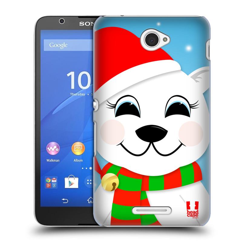 Plastové pouzdro na mobil Sony Xperia E4 E2105 HEAD CASE VÁNOCE POLÁRNÍ MÉĎA (Kryt či obal na mobilní telefon Sony Xperia E4 a E4 Dual SIM)