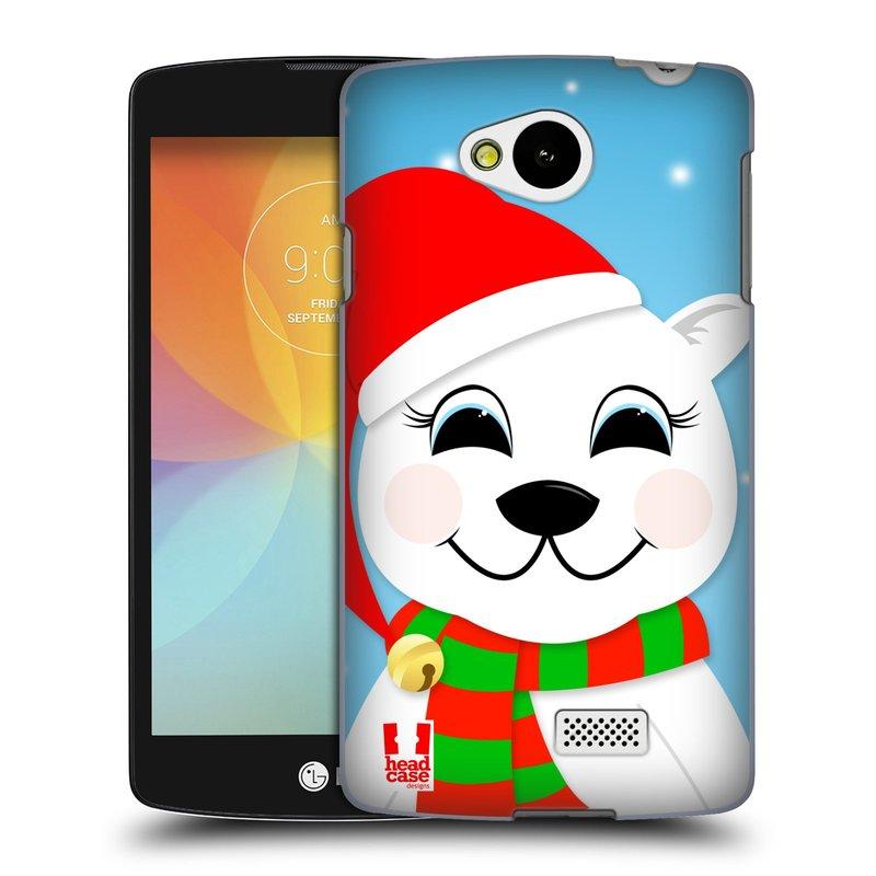 Plastové pouzdro na mobil LG F60 HEAD CASE VÁNOCE POLÁRNÍ MÉĎA (Kryt či obal na mobilní telefon LG F60 D390n)