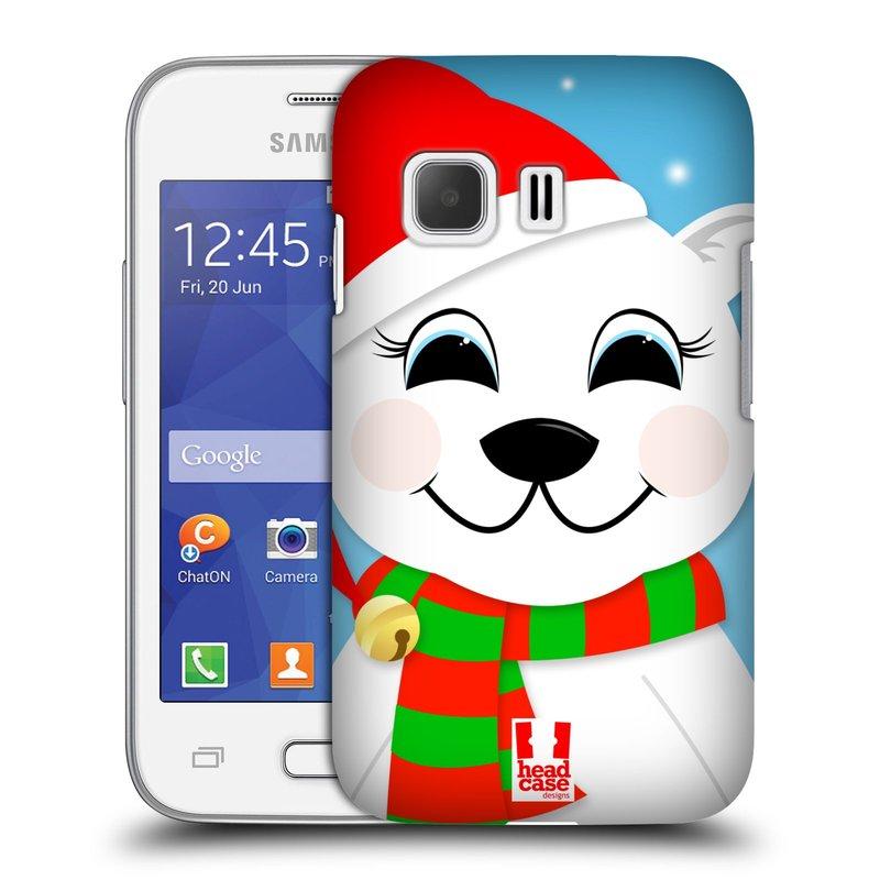 Plastové pouzdro na mobil Samsung Galaxy Young 2 HEAD CASE VÁNOCE POLÁRNÍ MÉĎA (Kryt či obal na mobilní telefon Samsung Galaxy Young 2 SM-G130)