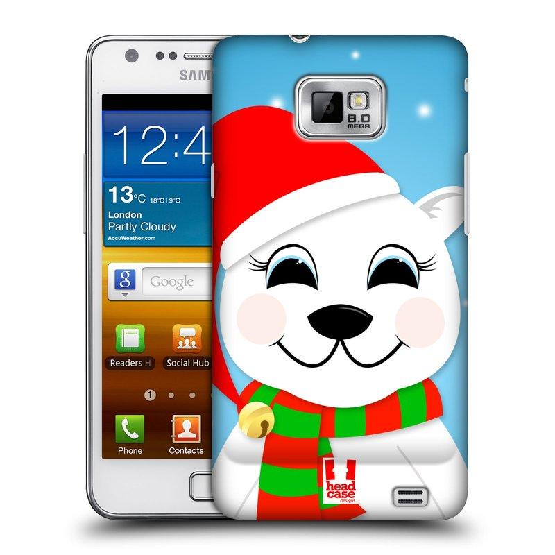 Plastové pouzdro na mobil Samsung Galaxy S II HEAD CASE VÁNOCE POLÁRNÍ MÉĎA (Kryt či obal na mobilní telefon Samsung Galaxy S II GT-i9100)