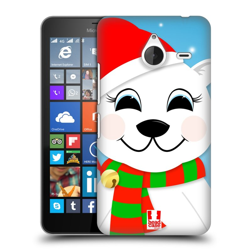 Plastové pouzdro na mobil Microsoft Lumia 640 XL HEAD CASE VÁNOCE POLÁRNÍ MÉĎA (Kryt či obal na mobilní telefon Microsoft Lumia 640 XL)