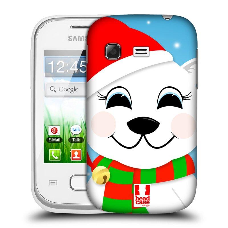 Plastové pouzdro na mobil Samsung Galaxy Pocket HEAD CASE VÁNOCE POLÁRNÍ MÉĎA (Kryt či obal na mobilní telefon Samsung Galaxy Pocket GT-S5300)