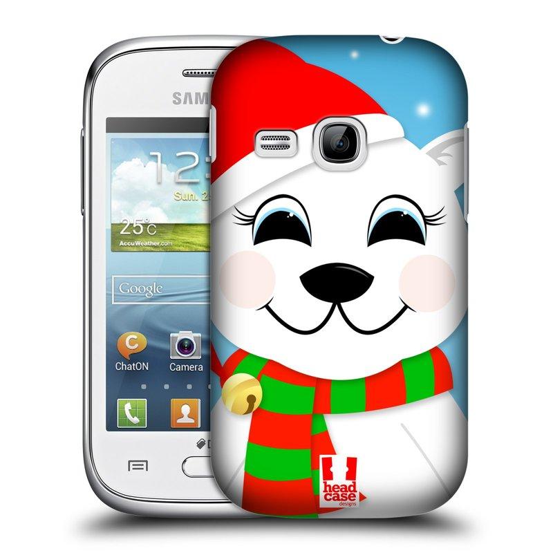 Plastové pouzdro na mobil Samsung Galaxy Young HEAD CASE VÁNOCE POLÁRNÍ MÉĎA (Kryt či obal na mobilní telefon Samsung Galaxy Young GT-S6310)
