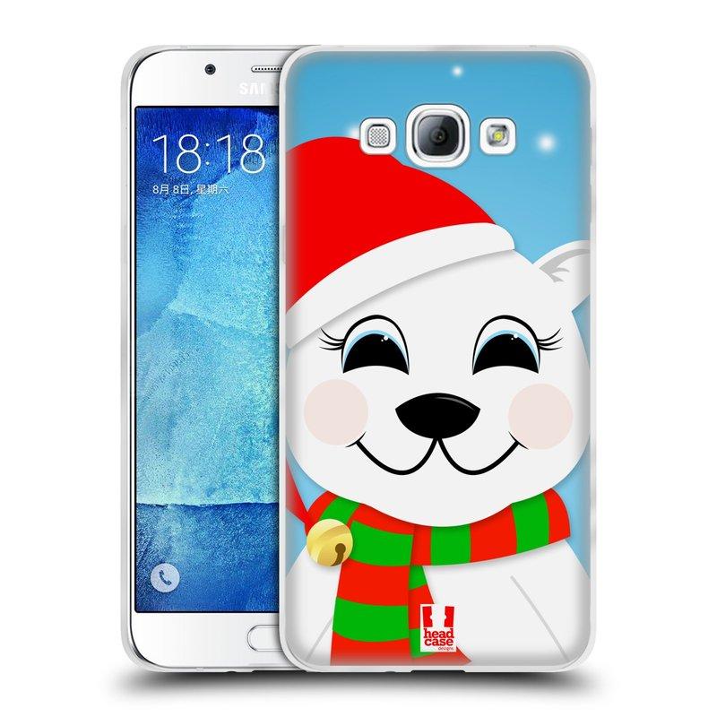 Silikonové pouzdro na mobil Samsung Galaxy A8 HEAD CASE VÁNOCE POLÁRNÍ MÉĎA (Silikonový kryt či obal na mobilní telefon Samsung Galaxy A8 SM-A800)