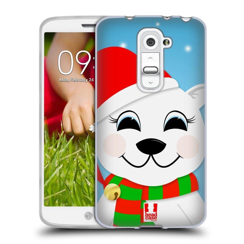 Silikonové pouzdro na mobil LG G2 Mini HEAD CASE VÁNOCE POLÁRNÍ MÉĎA (Silikonový kryt či obal na mobilní telefon LG G2 Mini D620)