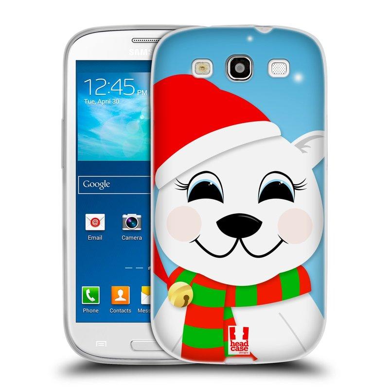 Silikonové pouzdro na mobil Samsung Galaxy S3 Neo HEAD CASE VÁNOCE POLÁRNÍ MÉĎA (Silikonový kryt či obal na mobilní telefon Samsung Galaxy S3 Neo GT-i9301i)