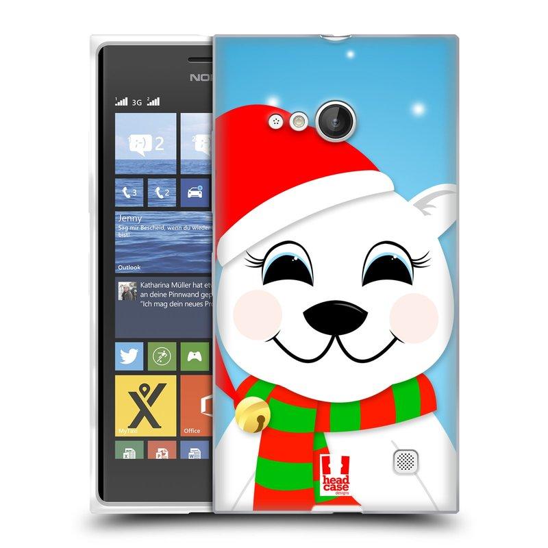 Silikonové pouzdro na mobil Nokia Lumia 730 Dual SIM HEAD CASE VÁNOCE POLÁRNÍ MÉĎA (Silikonový kryt či obal na mobilní telefon Nokia Lumia 730 Dual SIM)