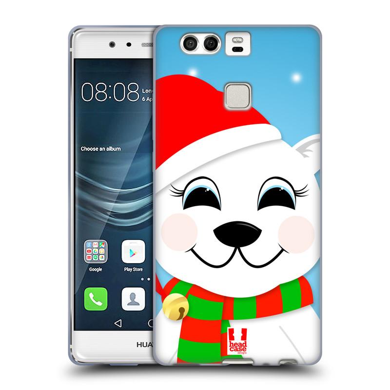Silikonové pouzdro na mobil Huawei P9 HEAD CASE VÁNOCE POLÁRNÍ MÉĎA (Silikonový kryt či obal na mobilní telefon Huawei P9)