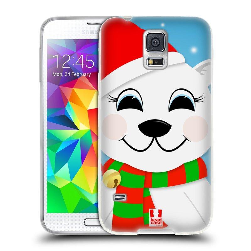 Silikonové pouzdro na mobil Samsung Galaxy S5 HEAD CASE VÁNOCE POLÁRNÍ MÉĎA (Silikonový kryt či obal na mobilní telefon Samsung Galaxy S5 SM-G900F)