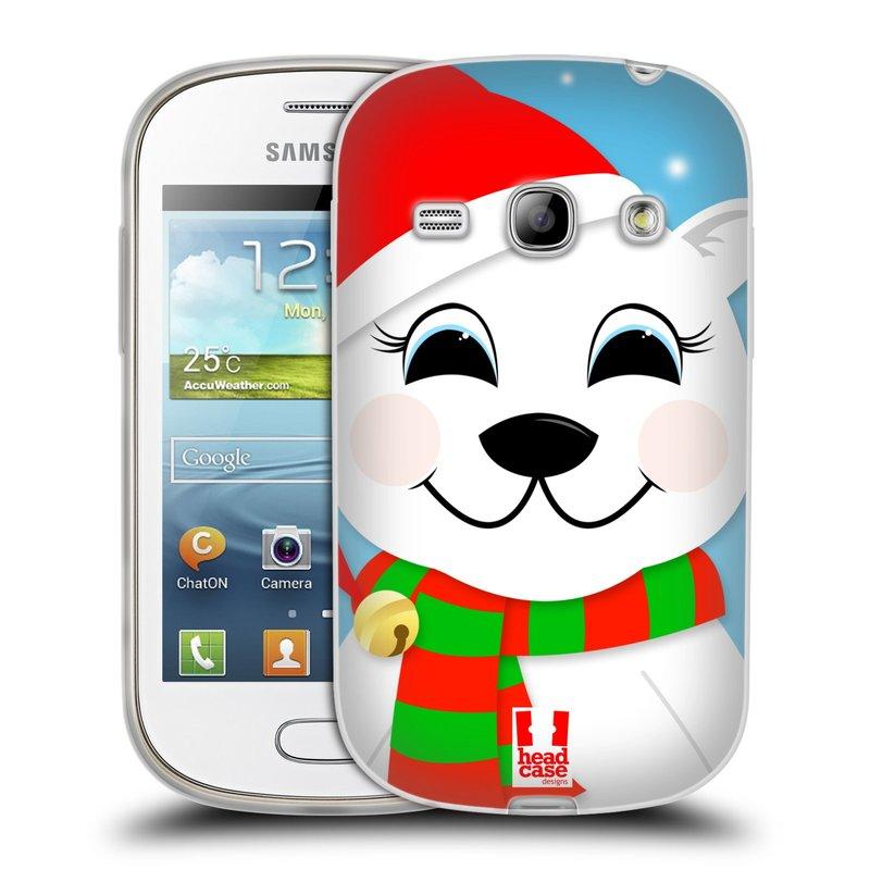 Silikonové pouzdro na mobil Samsung Galaxy Fame HEAD CASE VÁNOCE POLÁRNÍ MÉĎA (Silikonový kryt či obal na mobilní telefon Samsung Galaxy Fame GT-S6810)