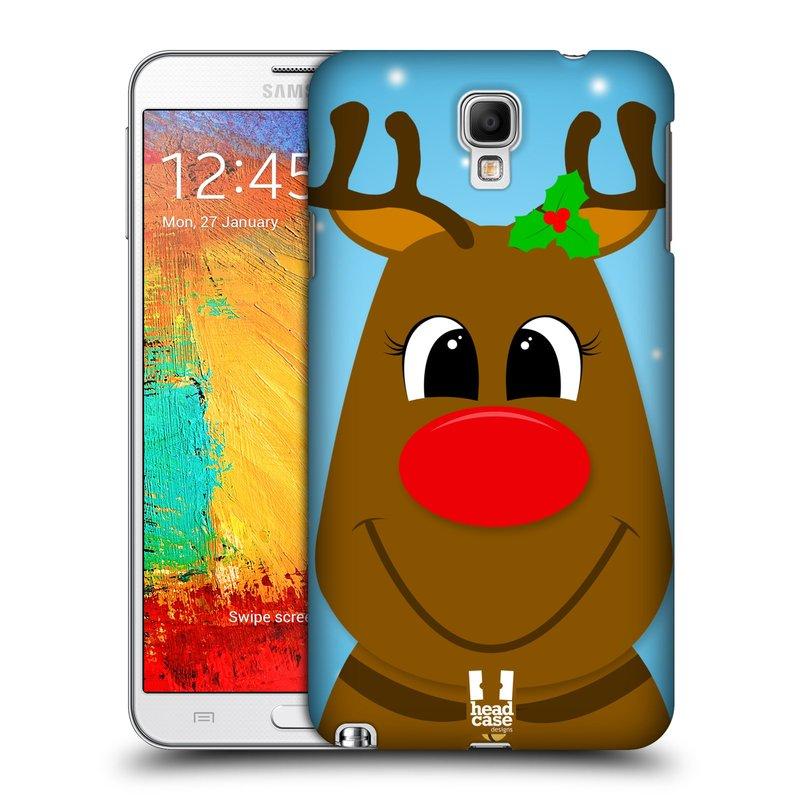 Plastové pouzdro na mobil Samsung Galaxy Note 3 Neo HEAD CASE VÁNOCE RUDOLF SOB (Kryt či obal na mobilní telefon Samsung Galaxy Note 3 Neo SM-N7505)