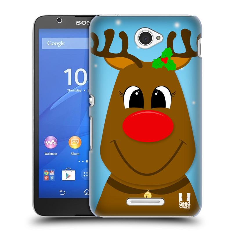 Plastové pouzdro na mobil Sony Xperia E4 E2105 HEAD CASE VÁNOCE RUDOLF SOB (Kryt či obal na mobilní telefon Sony Xperia E4 a E4 Dual SIM)