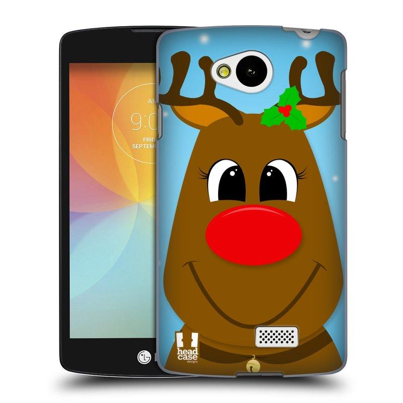 Plastové pouzdro na mobil LG F60 HEAD CASE VÁNOCE RUDOLF SOB (Kryt či obal na mobilní telefon LG F60 D390n)