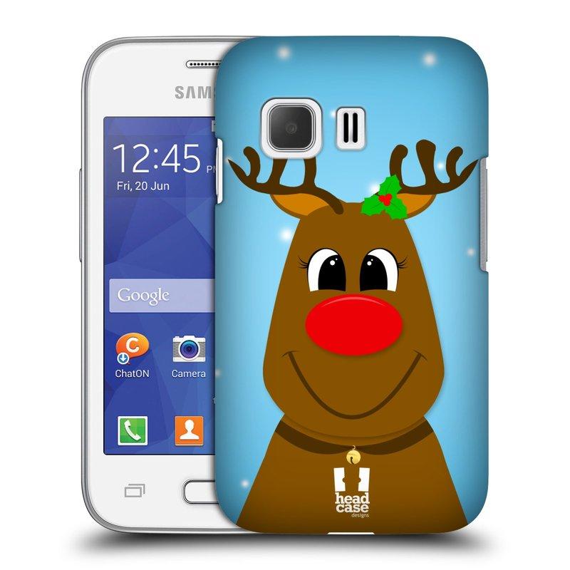 Plastové pouzdro na mobil Samsung Galaxy Young 2 HEAD CASE VÁNOCE RUDOLF SOB (Kryt či obal na mobilní telefon Samsung Galaxy Young 2 SM-G130)