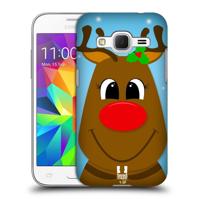 Plastové pouzdro na mobil Samsung Galaxy Core Prime LTE HEAD CASE VÁNOCE RUDOLF SOB (Kryt či obal na mobilní telefon Samsung Galaxy Core Prime LTE SM-G360)