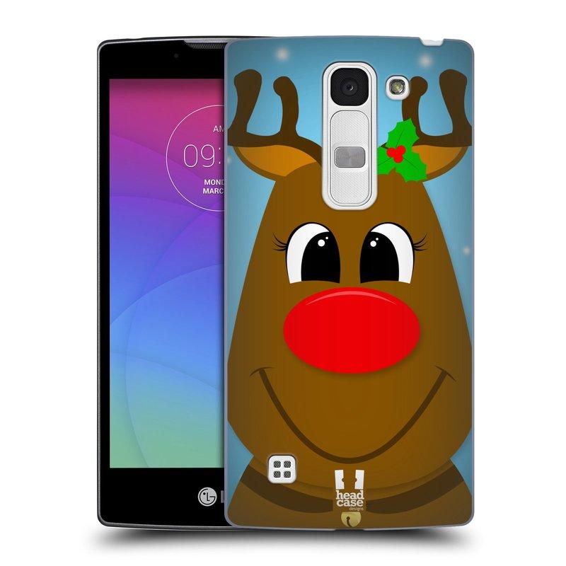 Plastové pouzdro na mobil LG Spirit LTE HEAD CASE VÁNOCE RUDOLF SOB (Kryt či obal na mobilní telefon LG Spirit H420 a LG Spirit LTE H440N)