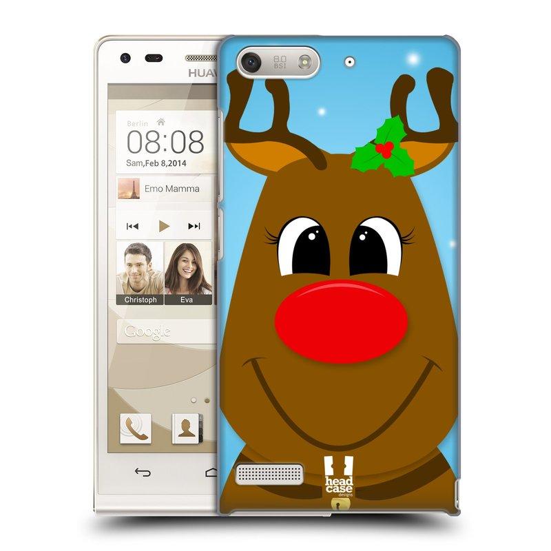 Plastové pouzdro na mobil Huawei Ascend G6 HEAD CASE VÁNOCE RUDOLF SOB (Kryt či obal na mobilní telefon Huawei Ascend G6 bez LTE)
