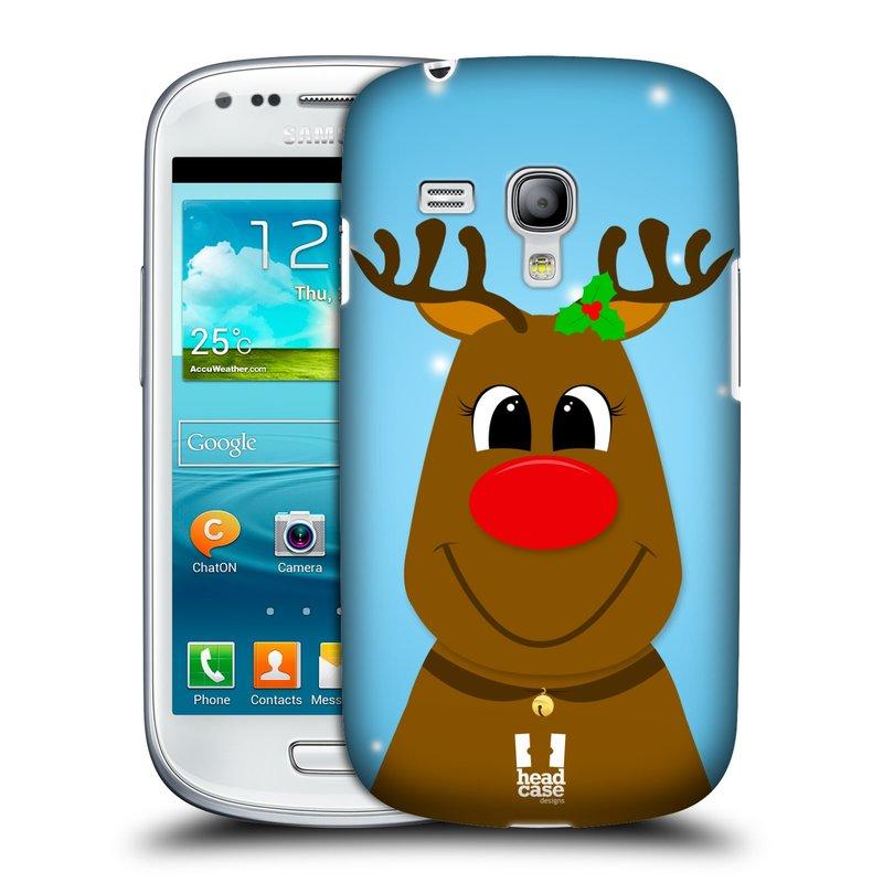Plastové pouzdro na mobil Samsung Galaxy S III Mini HEAD CASE VÁNOCE RUDOLF SOB (Kryt či obal na mobilní telefon Samsung Galaxy S III Mini GT-i8190)