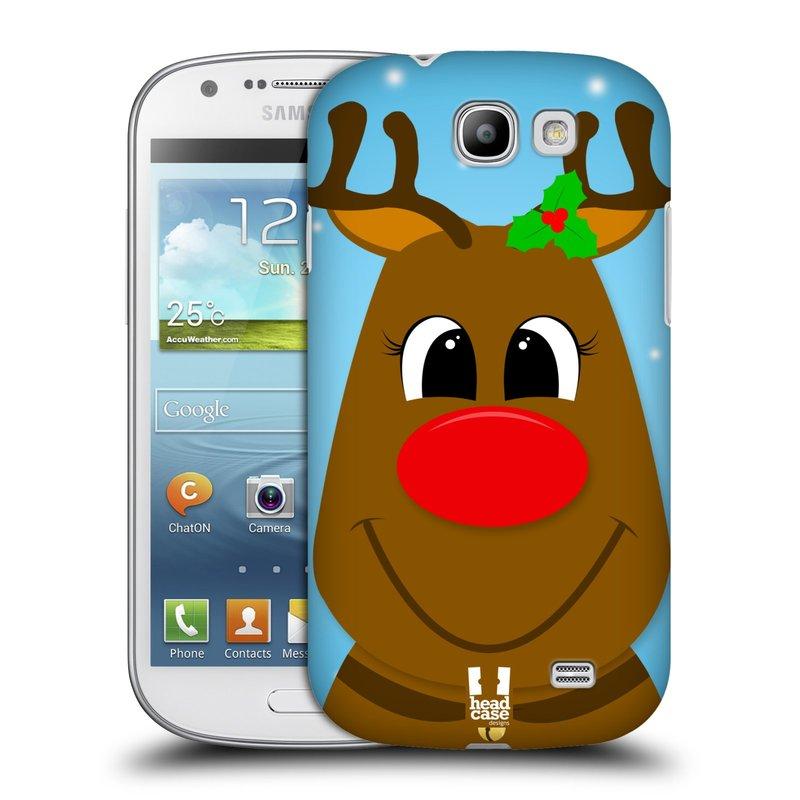 Plastové pouzdro na mobil Samsung Galaxy Express HEAD CASE VÁNOCE RUDOLF SOB (Kryt či obal na mobilní telefon Samsung Galaxy Express GT-i8730)