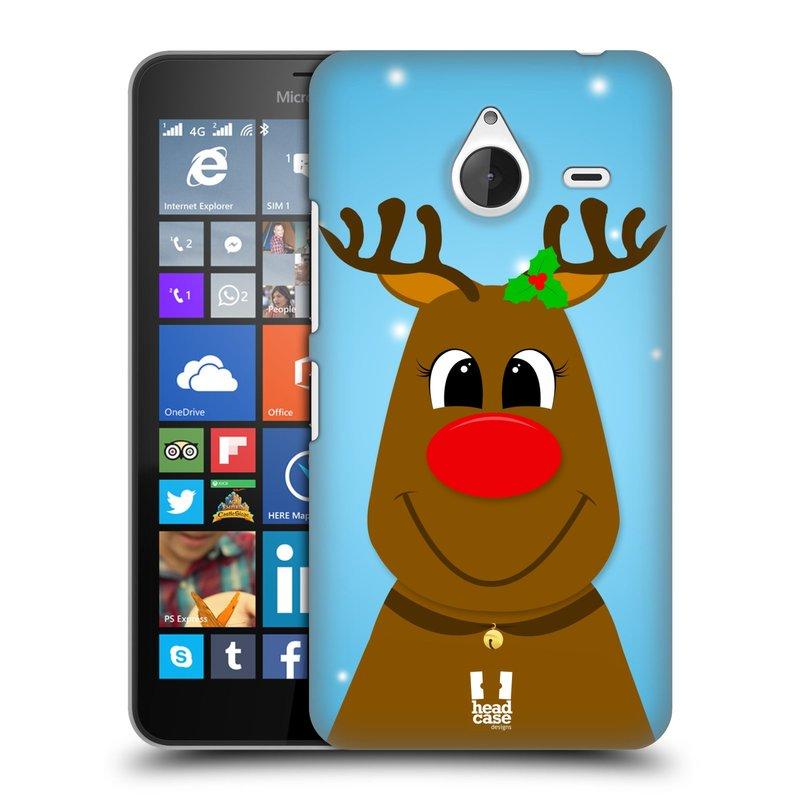 Plastové pouzdro na mobil Microsoft Lumia 640 XL HEAD CASE VÁNOCE RUDOLF SOB (Kryt či obal na mobilní telefon Microsoft Lumia 640 XL)