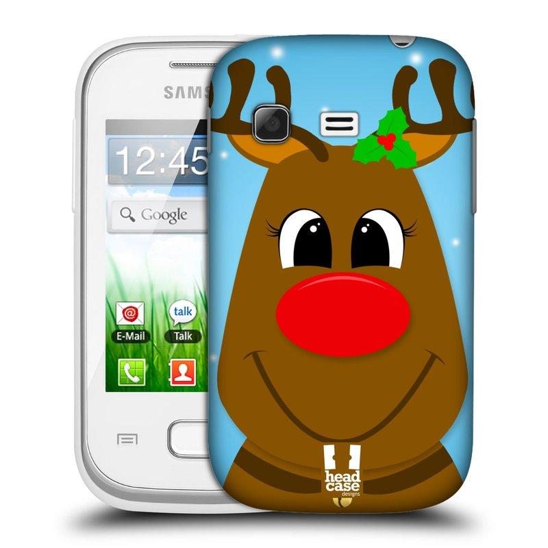 Plastové pouzdro na mobil Samsung Galaxy Pocket HEAD CASE VÁNOCE RUDOLF SOB (Kryt či obal na mobilní telefon Samsung Galaxy Pocket GT-S5300)