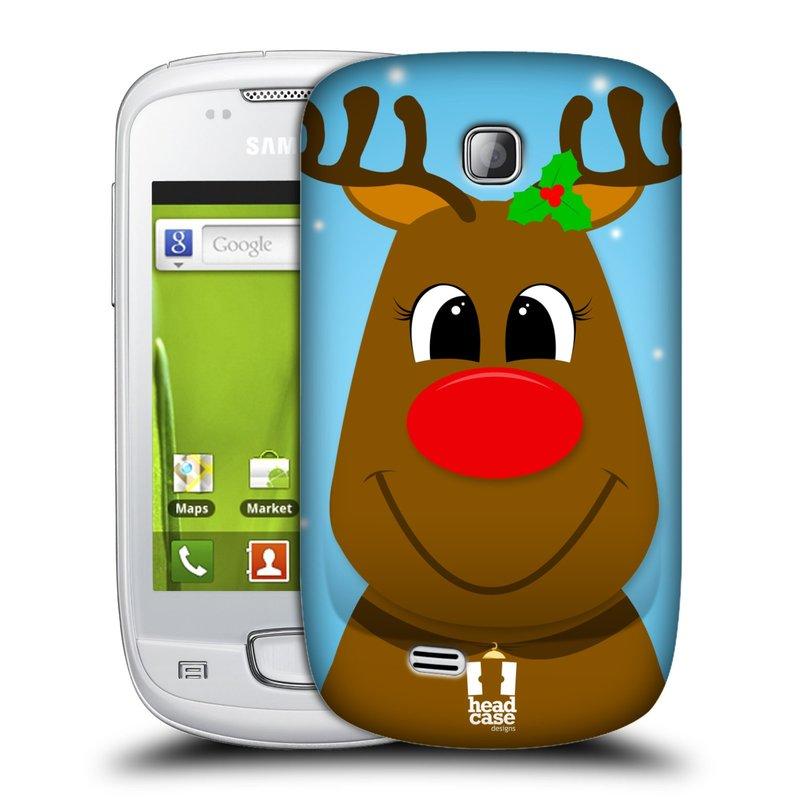 Plastové pouzdro na mobil Samsung Galaxy Mini HEAD CASE VÁNOCE RUDOLF SOB (Kryt či obal na mobilní telefon Samsung Galaxy Mini GT-S5570 / GT-S5570i)