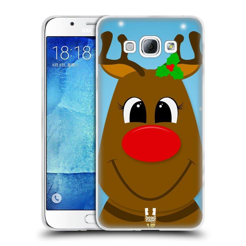 Silikonové pouzdro na mobil Samsung Galaxy A8 HEAD CASE VÁNOCE RUDOLF SOB (Silikonový kryt či obal na mobilní telefon Samsung Galaxy A8 SM-A800)