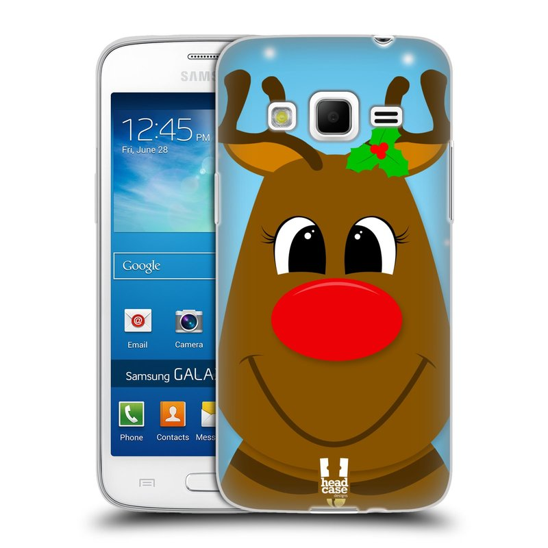 Silikonové pouzdro na mobil Samsung Galaxy Express 2 HEAD CASE VÁNOCE RUDOLF SOB (Silikonový kryt či obal na mobilní telefon Samsung Galaxy Express 2 SM-G3815)