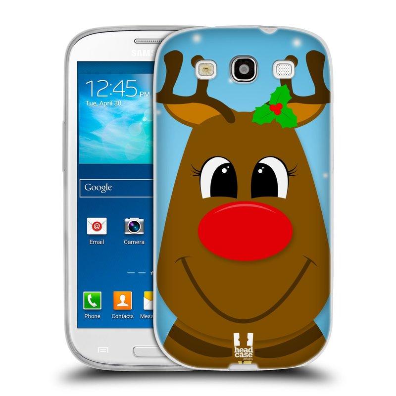 Silikonové pouzdro na mobil Samsung Galaxy S3 Neo HEAD CASE VÁNOCE RUDOLF SOB (Silikonový kryt či obal na mobilní telefon Samsung Galaxy S3 Neo GT-i9301i)