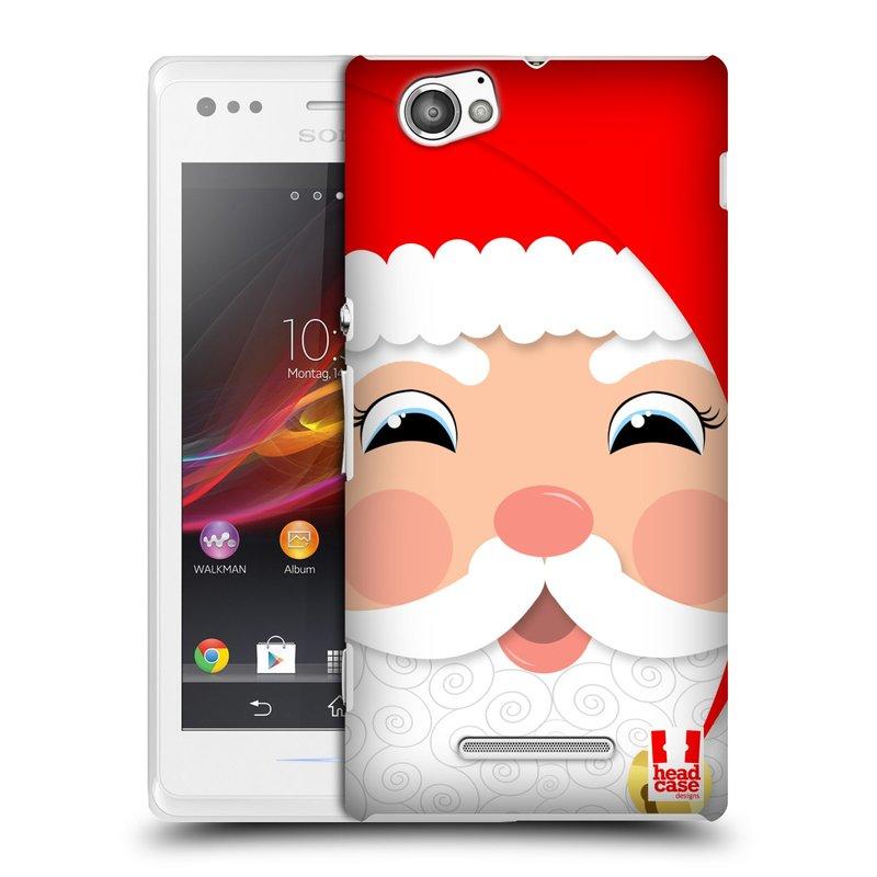 Plastové pouzdro na mobil Sony Xperia M C1905 HEAD CASE VÁNOCE SANTA (Kryt či obal na mobilní telefon Sony Xperia M a M Dual)
