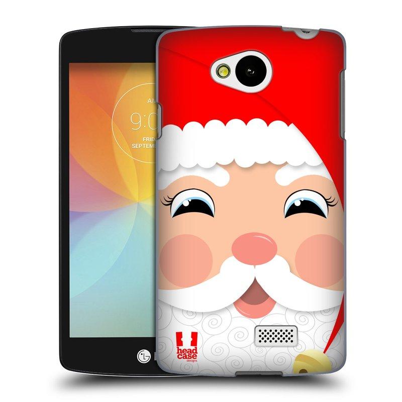 Plastové pouzdro na mobil LG F60 HEAD CASE VÁNOCE SANTA (Kryt či obal na mobilní telefon LG F60 D390n)